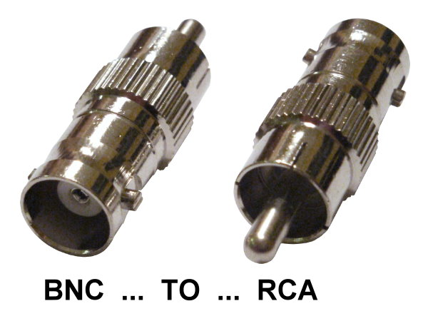 A-BRFM: BNC female to RCA male adapter