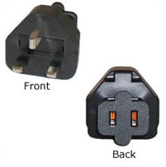 A-BS1363115RMF: BS1363 (UK) male to 1-15R Female power adapter
