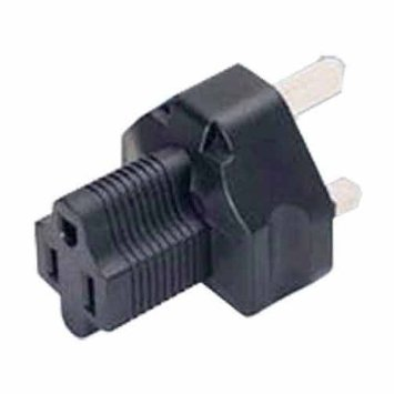 A-BS1363515RMF: BS1363 (UK) male to 5-15R Female power adapter