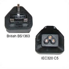 A-BS1363C5MF: BS1363 (UK) male to C5 Female power adapter