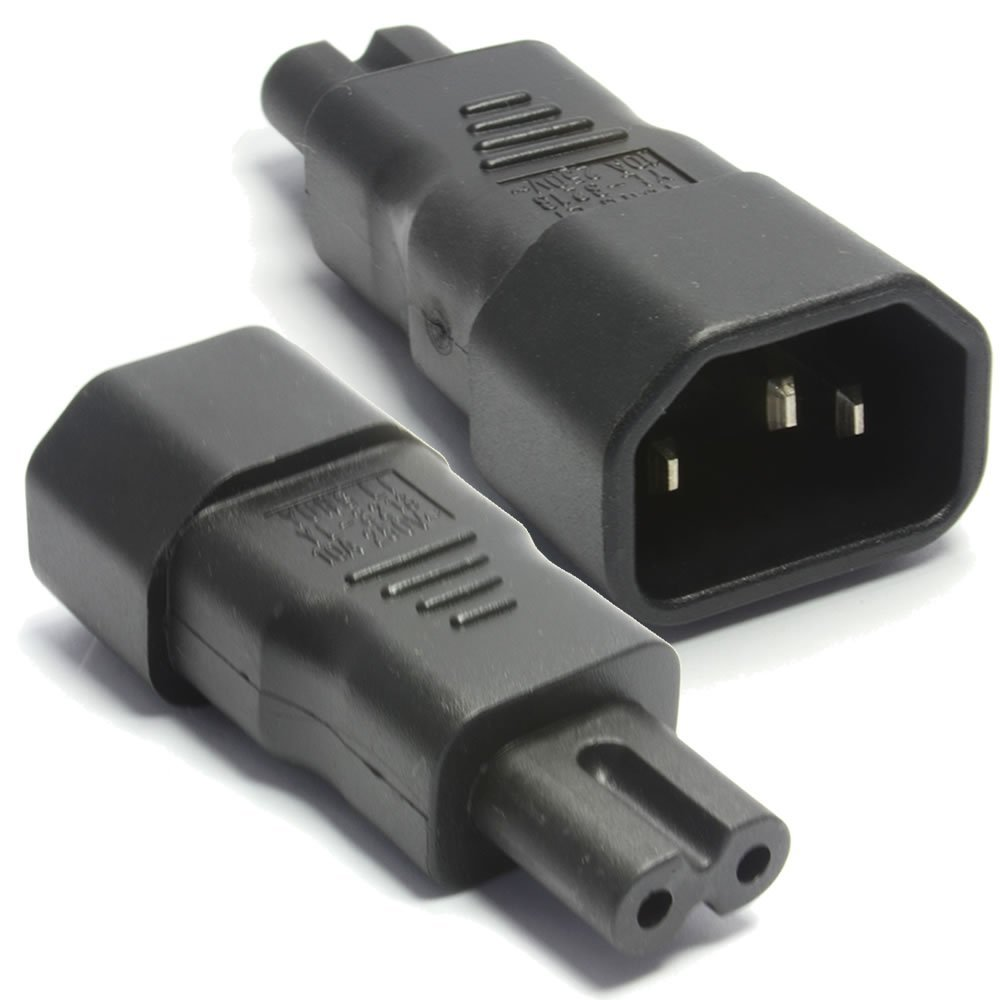 A-C14C7MF: C14 Male to C7 Female power adapter