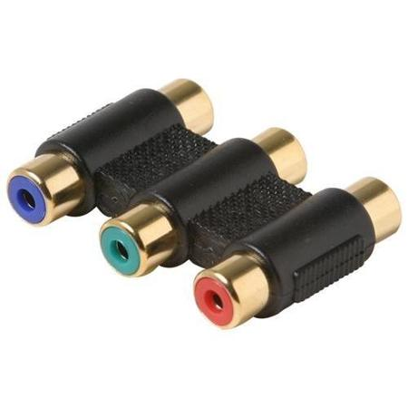 A-COCOFF: 3 x RCA female to 3 x RCA female component coupler