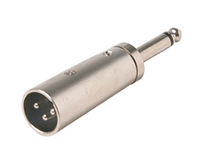 A-X41MM: XLR male to 1/4 inch mono male adapter