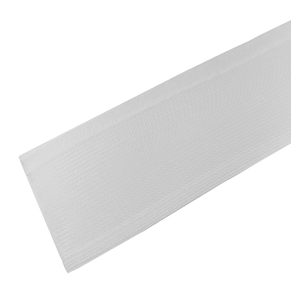 BS-FW200-100WH: 100ft 2 inch Split Hook and Loop Braided Sleeving White
