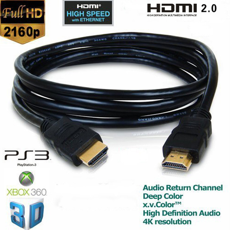 C-HDMI2L: 1 to 50ft 4K HDMI to HDMI v2.0 Heavy Duty Cable