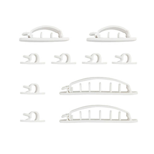 CC-AD10P-WH: Cable Clips Multi-Pack - Adhesive - White (10 Pack)