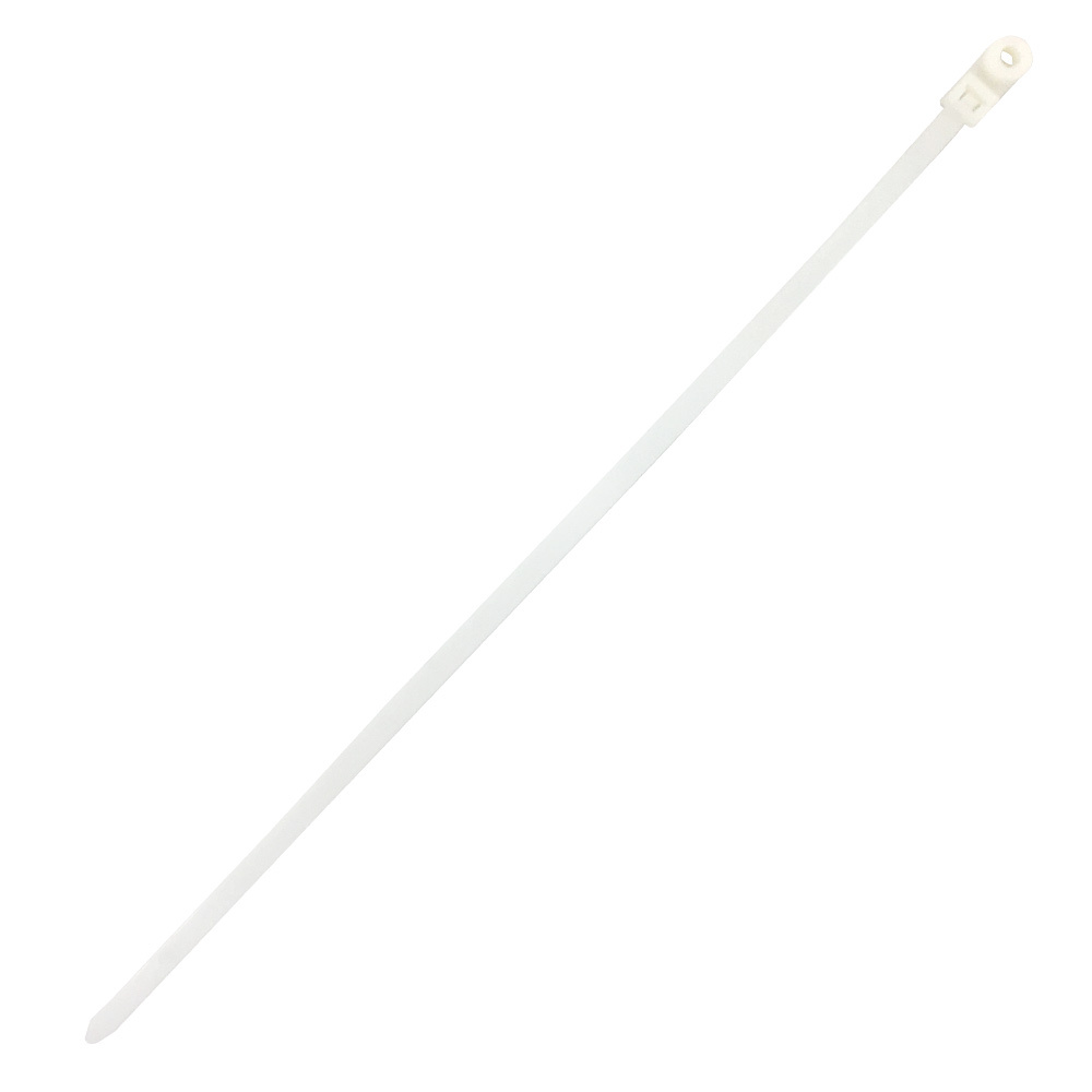 CT-316S-1000CL: 1000pk 15.7 Inch Mounted Head Cable Tie (120lb) - UL94V-2 Nylon 66 - Natural