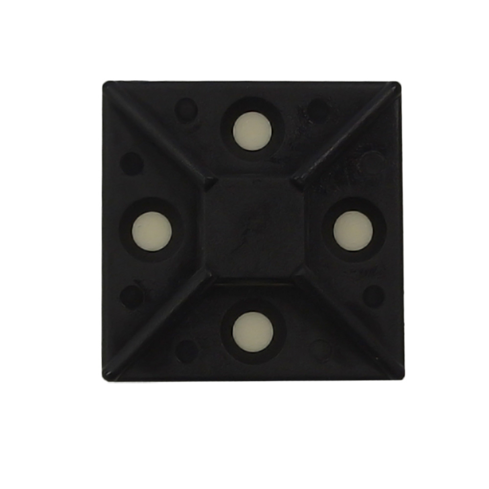 "CT-M150-BK: Adhesive cable tie mount 1.5""x 1.5"" - Black - Pack of 100"