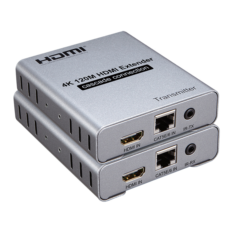 E1204K60: 120M HDMI Extender 4K 60Hz with IR Cascade Supported