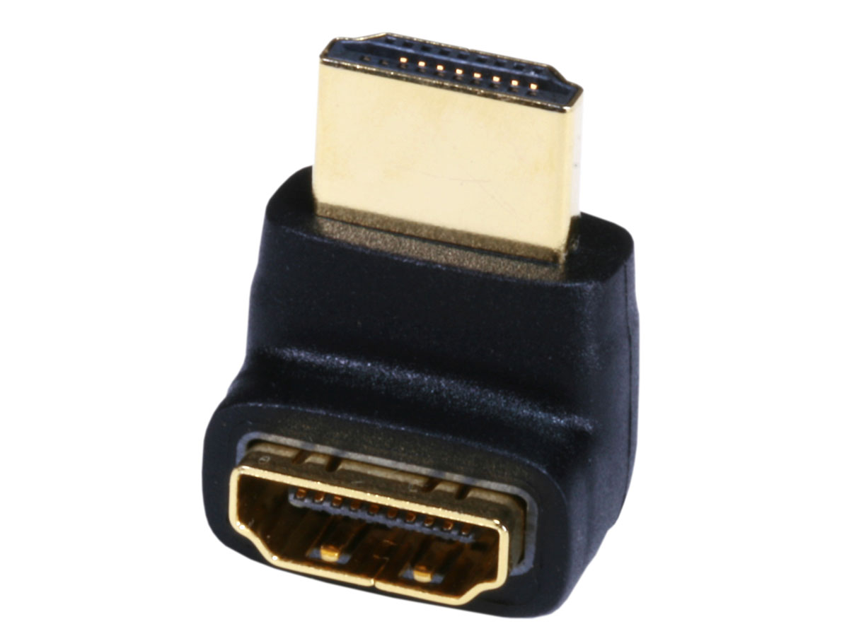H270-1: Adapter HDMI male to female - 270 degree angle