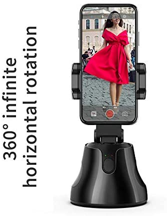 HF-AGRC1: Personal Robot Camera, 360 Rotation Auto Tracking Smart Following Face & Object Phone Mount Stand Holder Tripod Selfie