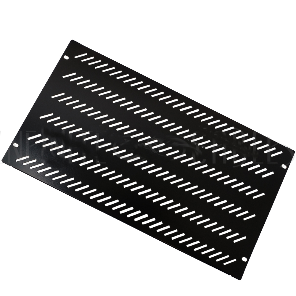 HF-BFVP-6U: Blank Filler Panels - Black 6U - Vented