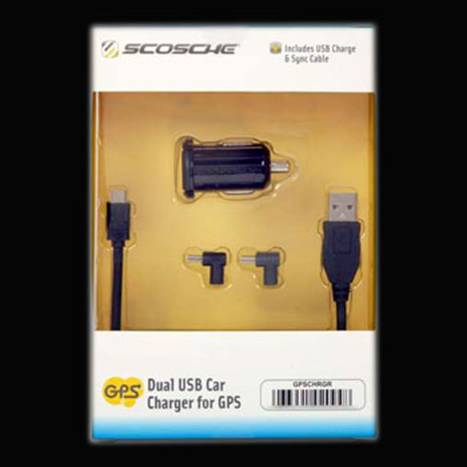 HF-GPSCHRGR: Scosche Dual USB Charger for GPS