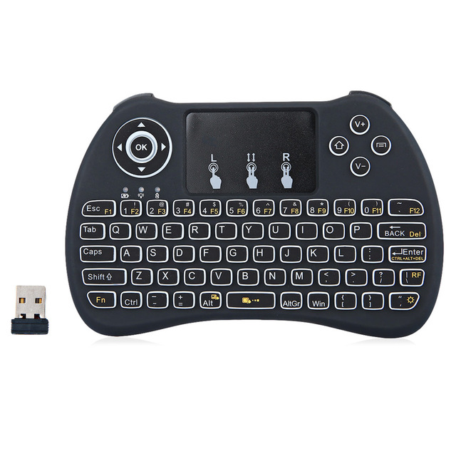 HF-H9: Mini Hand-held Wireless QWERTY Keyboard with Backlight