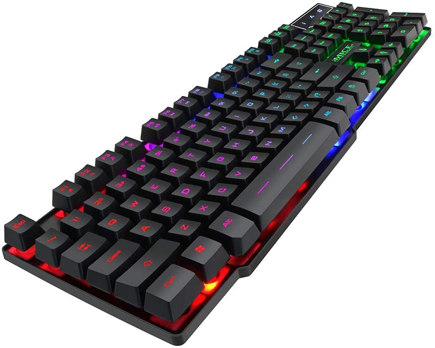 HF-IMAK600: Backlight Suspension Key Mechanical Keyboard Game Wired PC Notebook USB Wired Gaming Keyboard