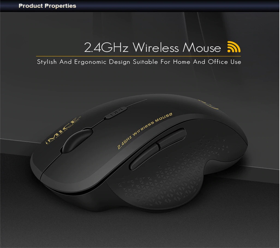 HF-IMG6: 6 keys 2.4Ghz 800-1200-1600 DPI Third Gear Wireless Mouse Mice& USB Receiver For PC Laptop Adjustable Game Mice