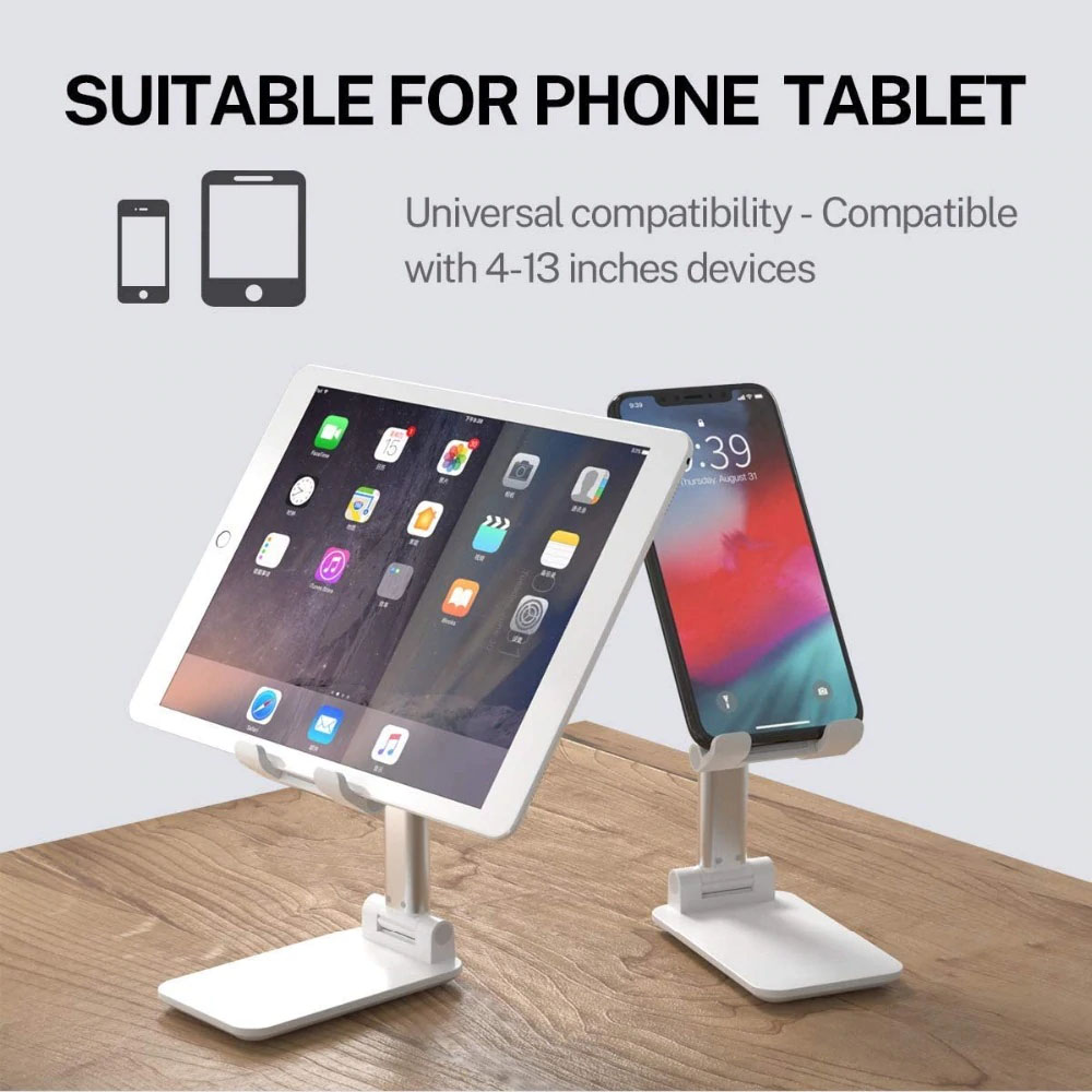 HF-PTH33: HYFAI Adjustable Cell Phone/Tablet Desktop Stand Cradle Dock Holder Compatible with iPhone/iPad and more 4.0 to 13""