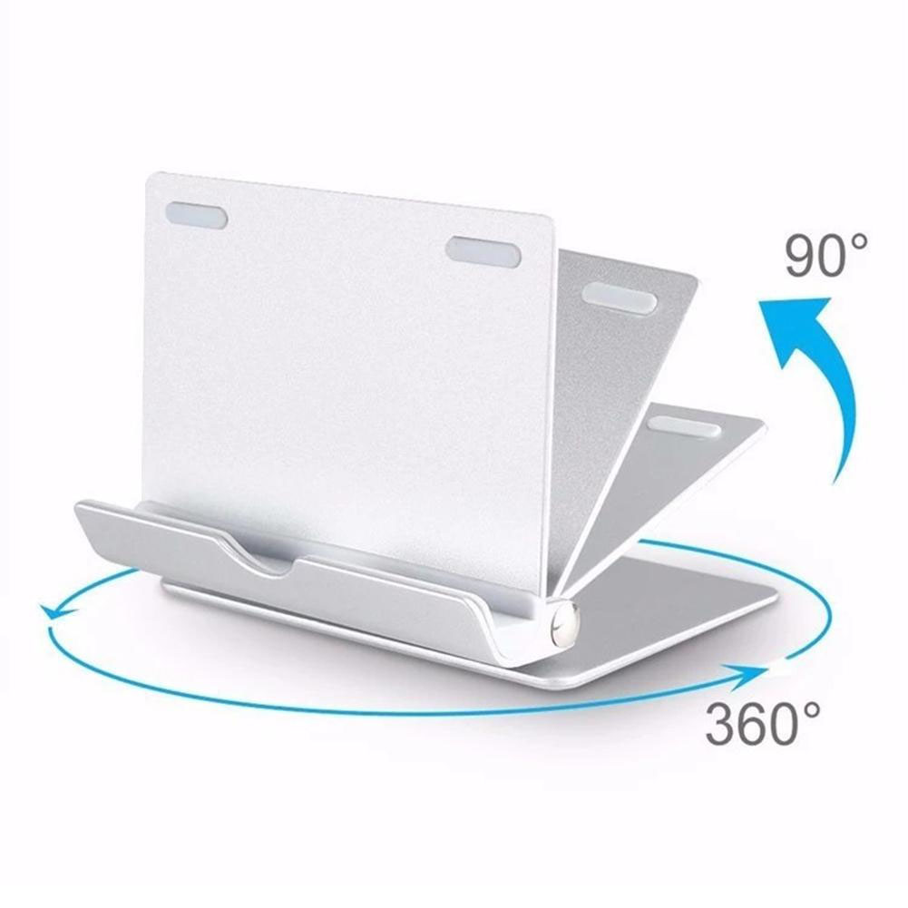 HF-PTS861: Tablet Mobile Phone Metal Aluminum Desktop Base Holder Stand 90/360 Degree Rotating iPad/iPhone Android up to 12.9""