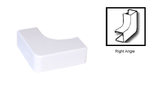 HF-RW-106-WH: Perplas Raceway Right Angle Type-1 - White