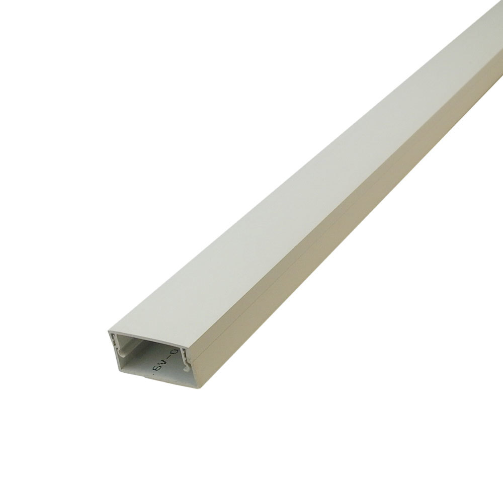 "HF-RW-300-IV: Perplas 6ft Raceway with Adhesive Tape - 1"" x 2"" Off White"
