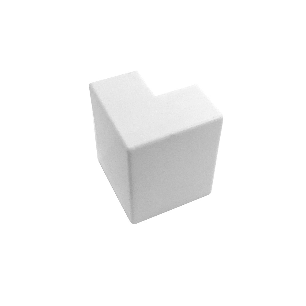 HF-RW-5020U-WH: Outside Corner for 50mm x 20mm Raceway - White