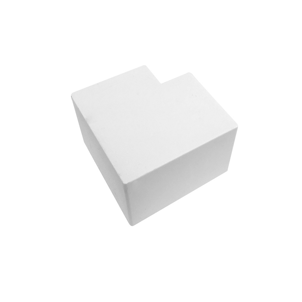 HF-RW-5050R-WH: Right Angle for 50mm x 50mm Raceway - White
