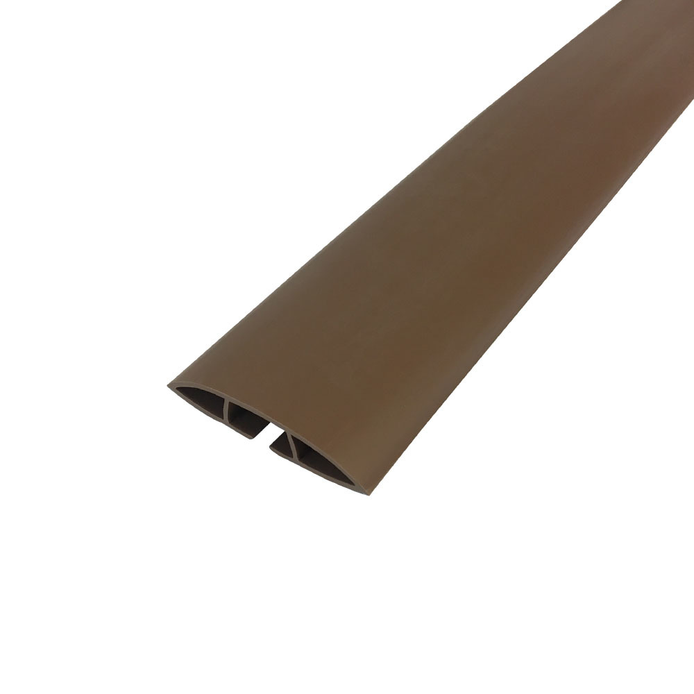 HF-RW-FT100-BR: Floor Track Cord Cover with Adhesive Tape - Brown