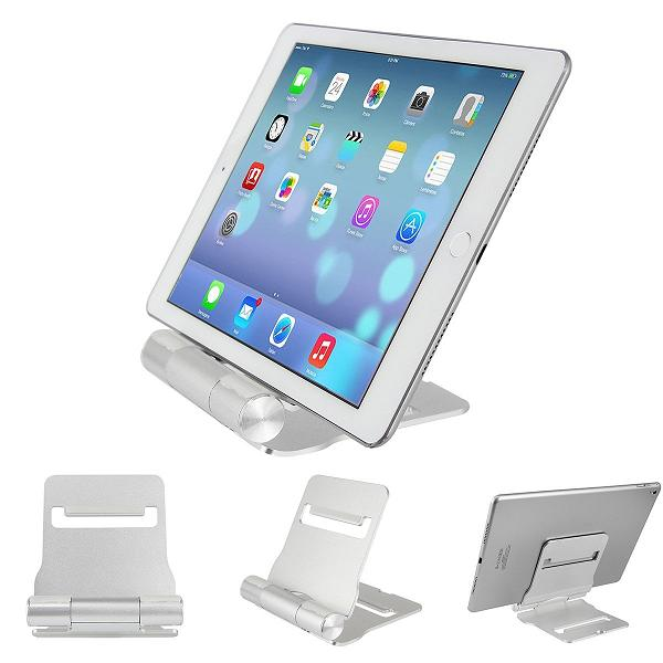 HF-TS18: Slim Foldable Aluminum Smartphone Tablet Stand Holder Cradle