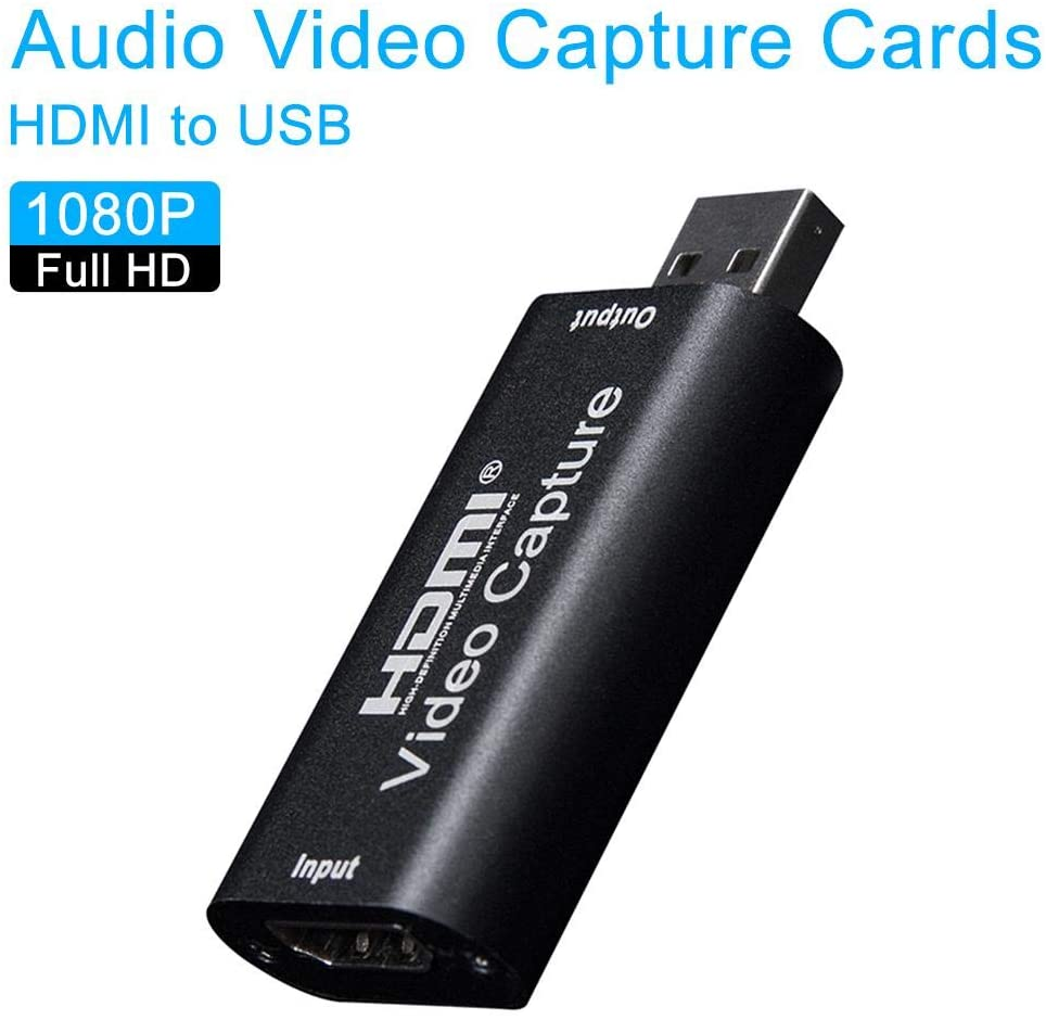 HF-U2VCC: USB HDMI Audio Video Capture Cards 1080p Recording Recorder Video Game Converter, for Live Streaming Video Recording