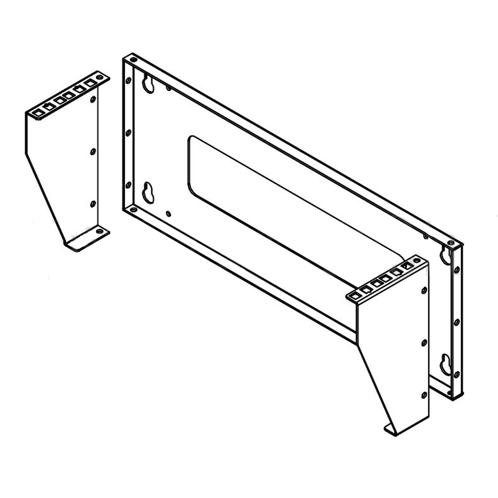 HF-WMBV-2U: Vertical Wall Mount Rack - 2U