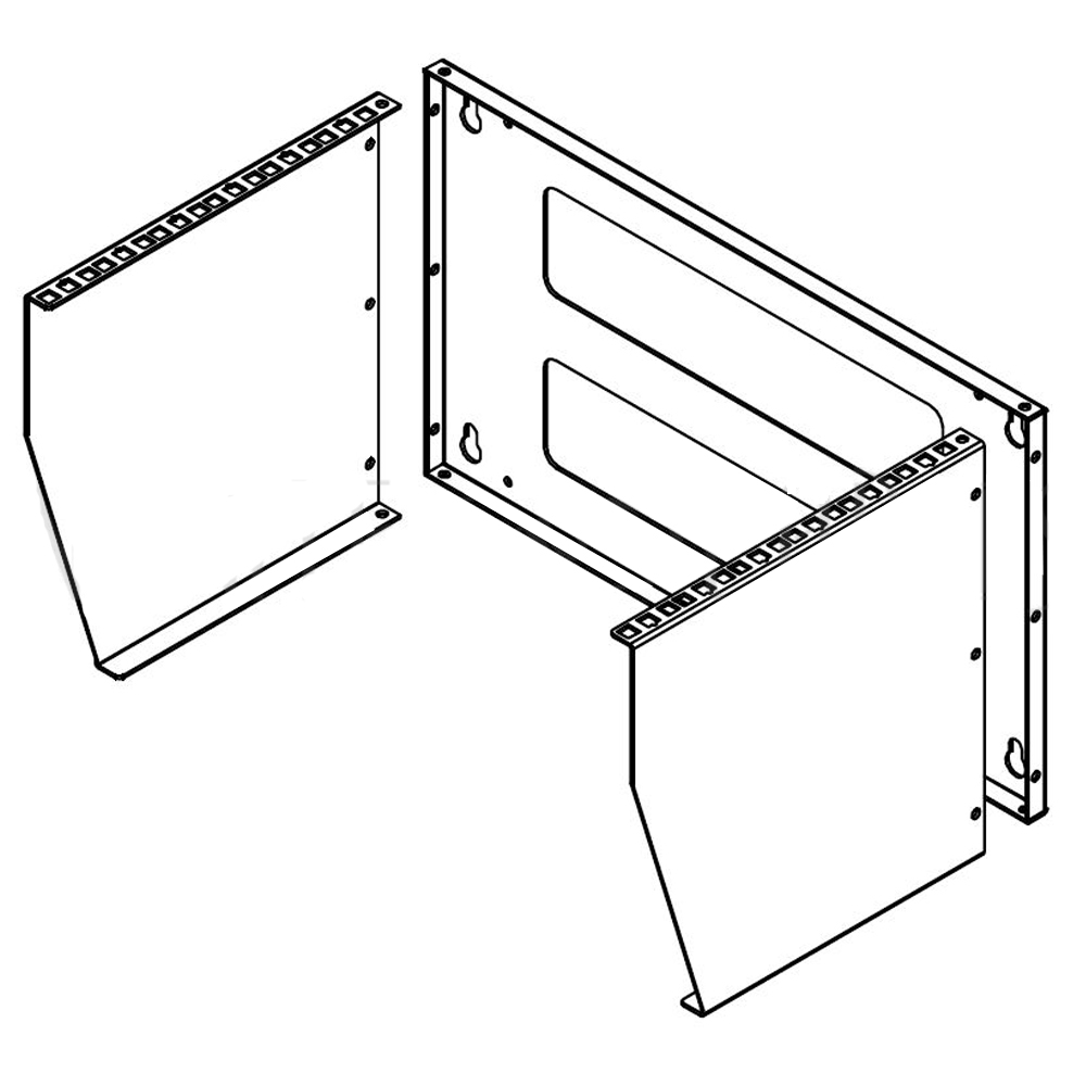HF-WMBV-6U: Vertical Wall Mount Rack - 6U