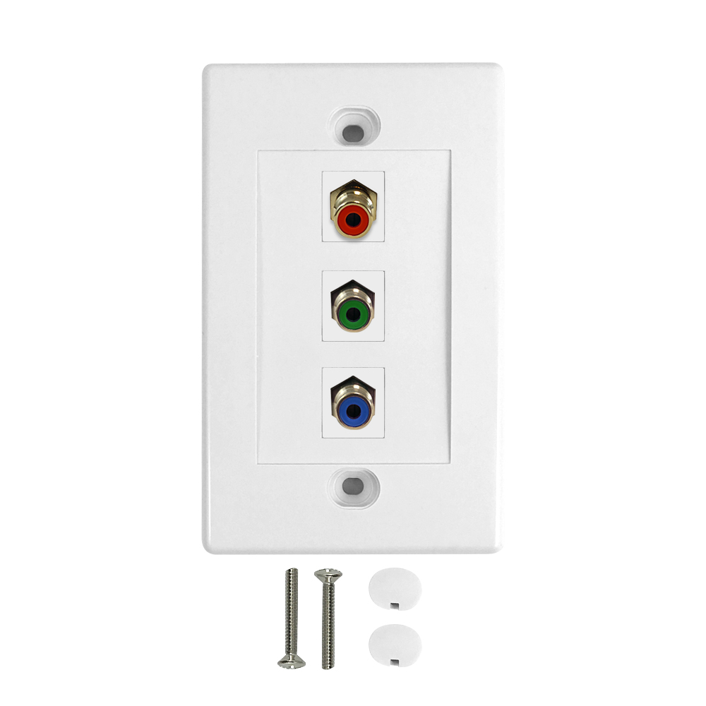 HF-WPK-RGB1: Component Wall Plate Kit - White