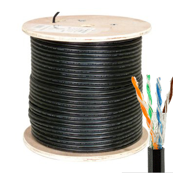 HFCAB--CAT5GF-O:24 AWG Cat5E Outdoor UV Direct Burial Waterblock Gel Type High Performance Ethernet Cable
