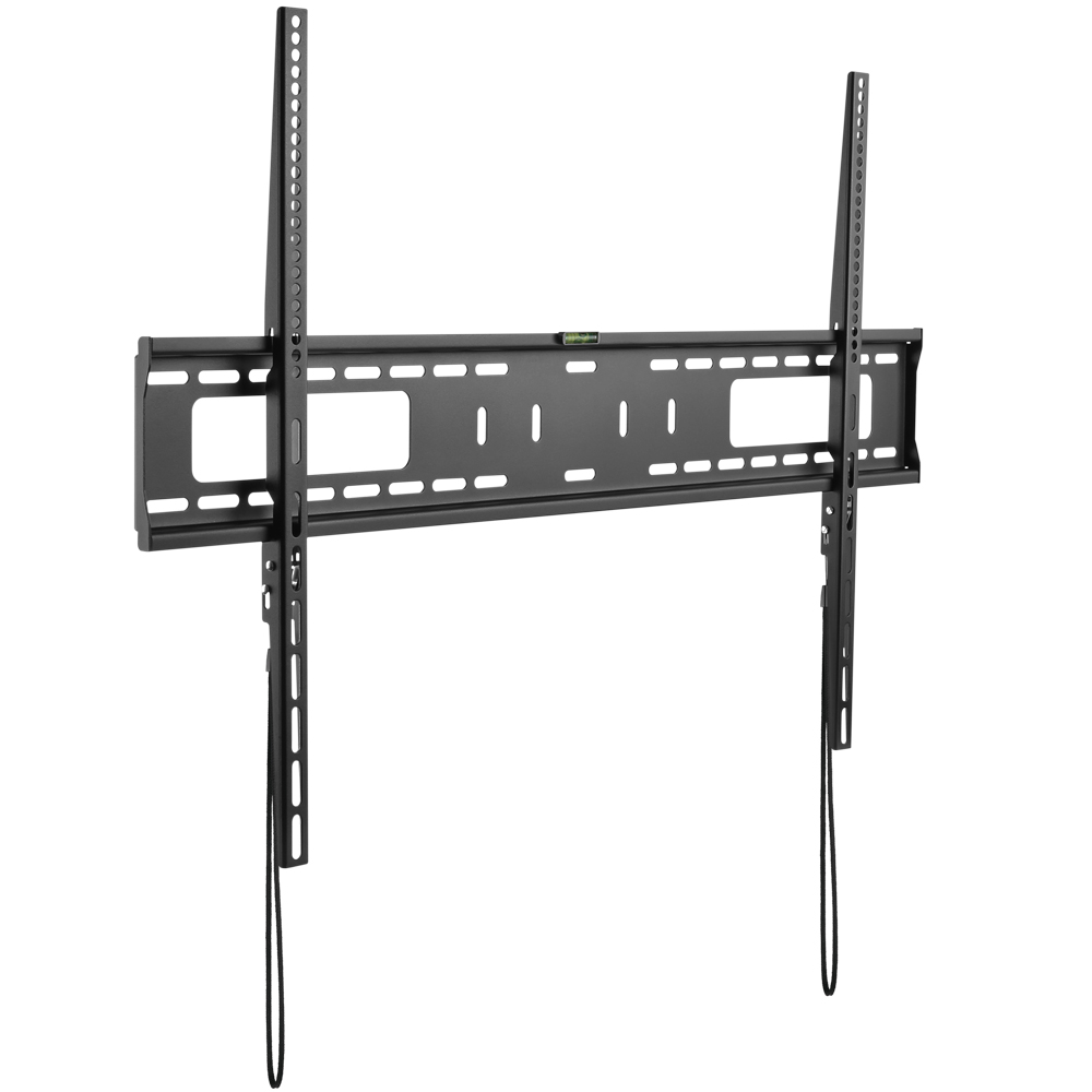 HFTM-FO60100: LCD/LED curved and flat panel wall bracket fixed open frame, VESA, size: 60-100 inch, Black (cUL)