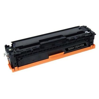 HP CE410A: Black Toner Cartridge CE410A BK (305A) Compatible Remanufactured for HP CE410A Black