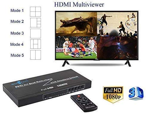 HW-401-MV: 3D 1080P HDMI 4x1 Multi-Viewer Watch Support Seamless Switch and PIP