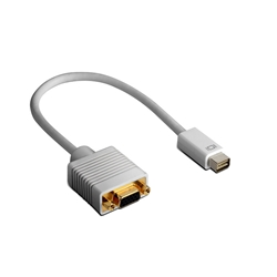 Mini DVI M to VGA F, 15 cm cable adapter