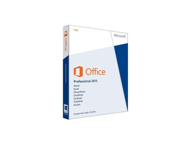 MS-OFFICEPRO-2013-PKC: Microsoft Office Professional 2013 English Medialess