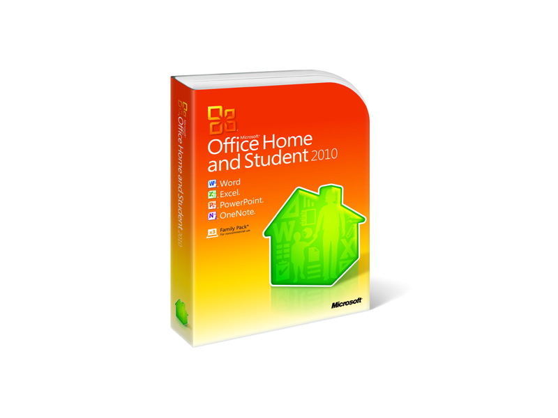 MS-Office-2010-HS-Retail: Microsoft Office Home and student 2010 -Family Pack (3 user)