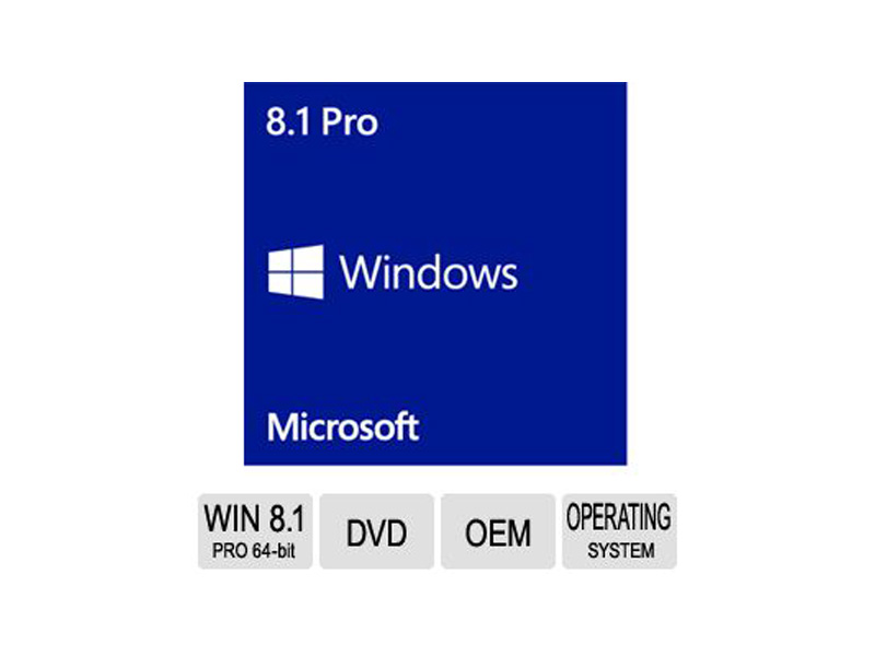 MS-WIN8.1-PRO-64BIT: Windows 8.1 PRO FQC-06950 64-Bit, English, 1PK DSP OEM