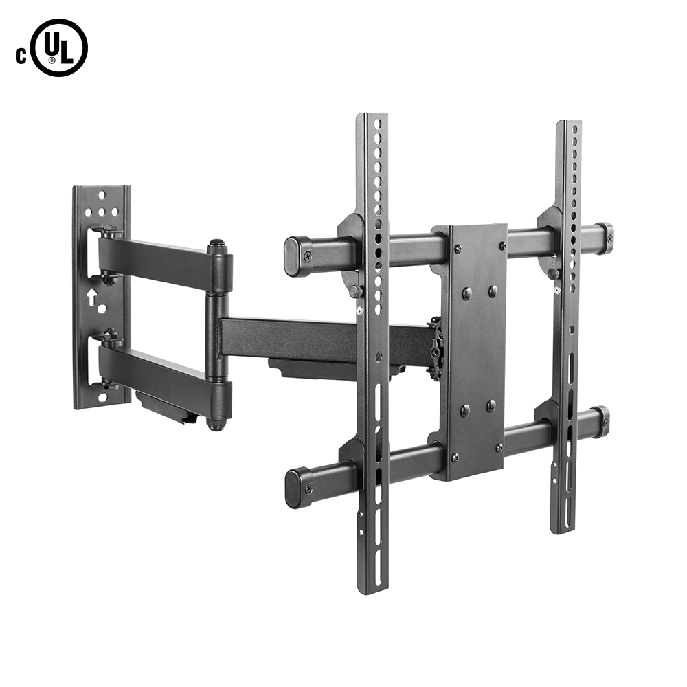 HF-TMMT75: Full Motion TV Wall Mount Bracket for Flat and Curved LCD/LEDs – Fits Sizes 32 to 55 inches – Maximum VESA 400x400