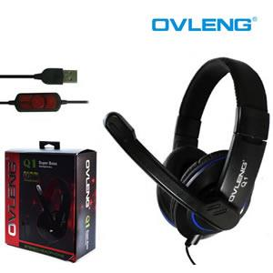 OVLENG-Q1: Ovleng Q1 3.5 Mm Wired Adjustable Ear Angle USB Professional Stereo Gaming Headset