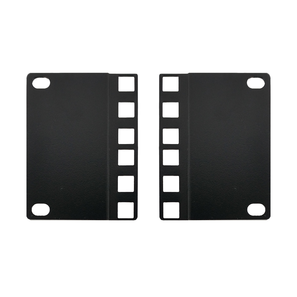 RM-650-2U: 2U 23 inches to 19 inches Reducer Panel Adapter, Square Hole - Black (Pair)