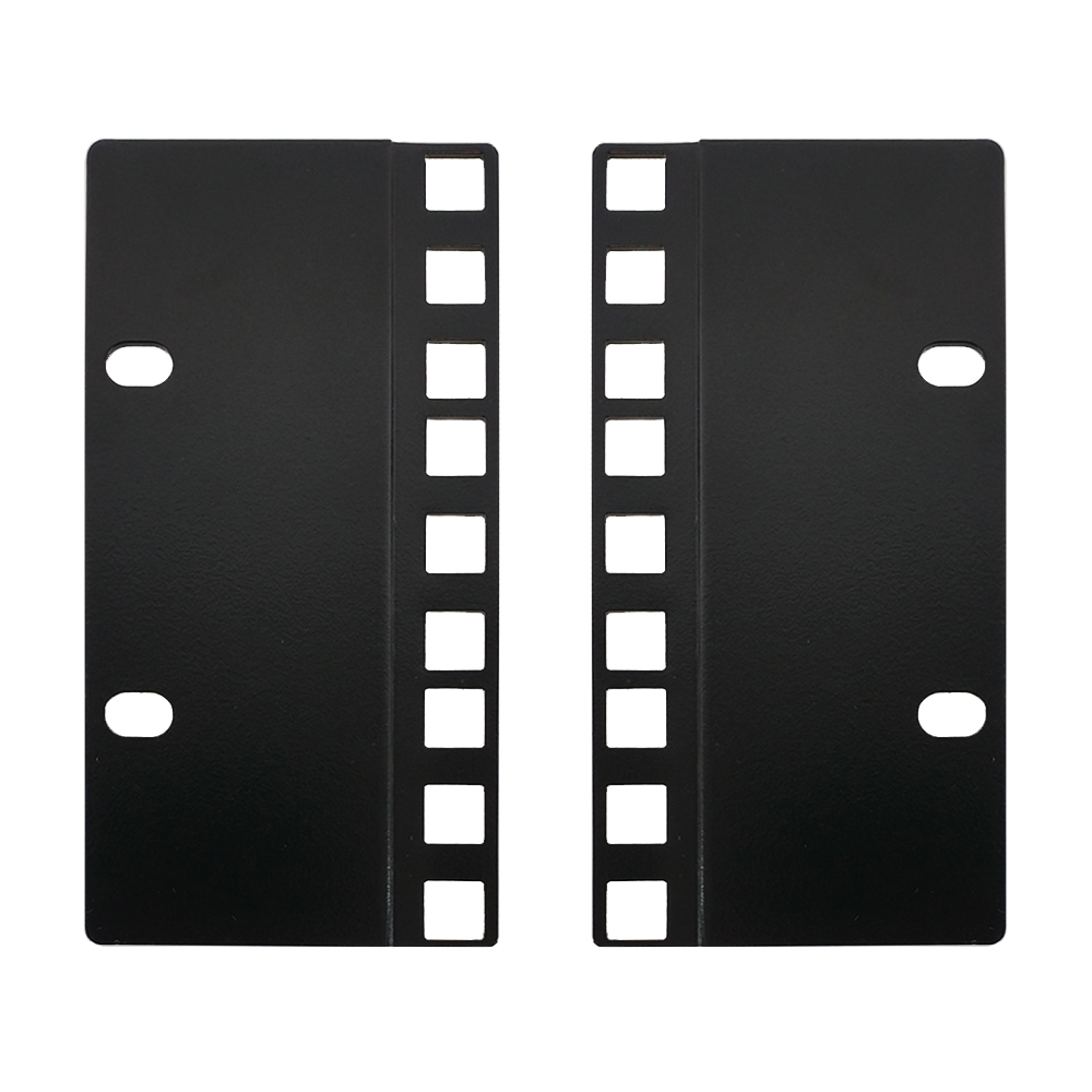 RM-650-3U: 3U 23 inches to 19 inches Reducer Panel Adapter, Square Hole - Black (Pair)