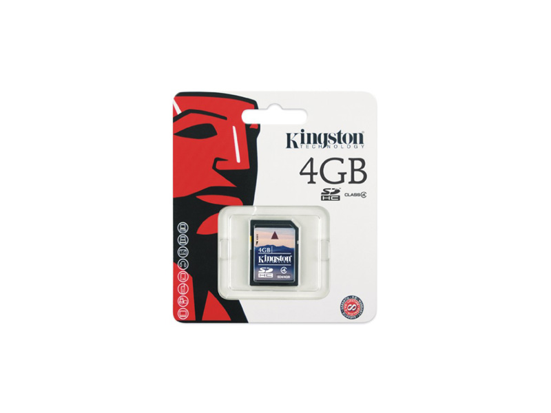 SD-Kingston-C4-04G:Kingston 4GB microSD High Capacity (microSDHC) Card - Class4