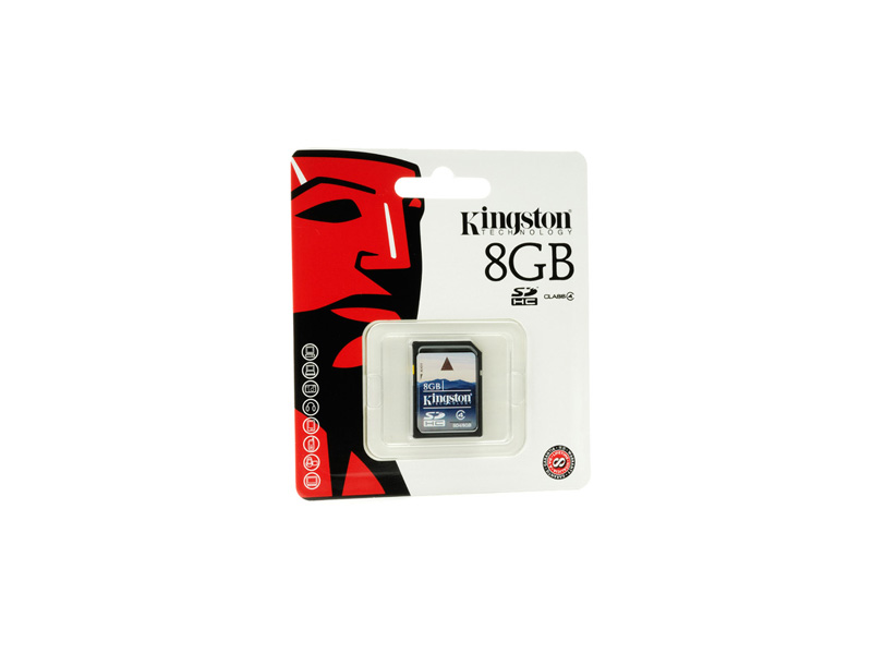 SD-Kingston-C4-08G:Kingston SD4/8GB SDHC CLASS 4 Flash Card - 8GB