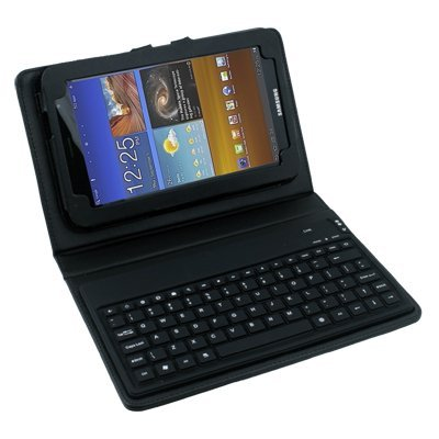 SG-Case-BK: PU leather case w/Bluetooth keyboard for Samsung Galaxy tab/tab2/note 10.1