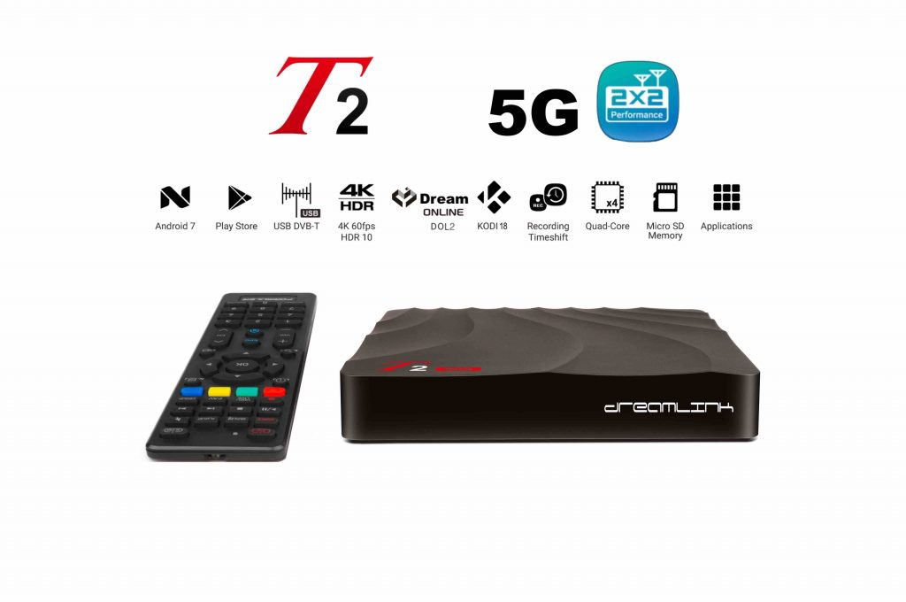 T25G: New Dreamlink T2 5G Dual Band WiFi antenna 600 Mbps IPTV Set Top Box & Smart TV Android 7 OS