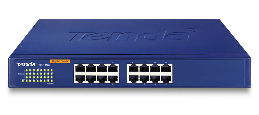 TEG1016G: Tenda TEG1016G Unmanaged 16-Port Gigabit Ethernet Switch