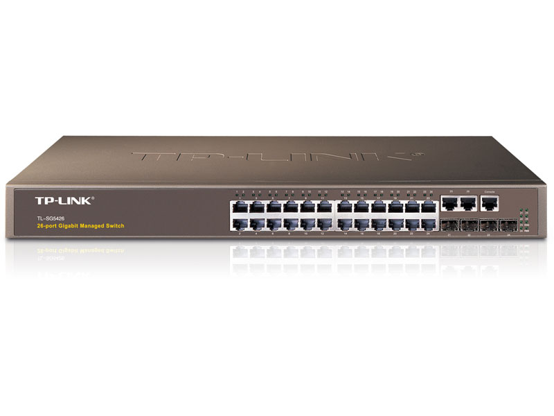 TL-SG5426: 26-Port Gigabit L2 Managed Switch with 4 SFP Slots
